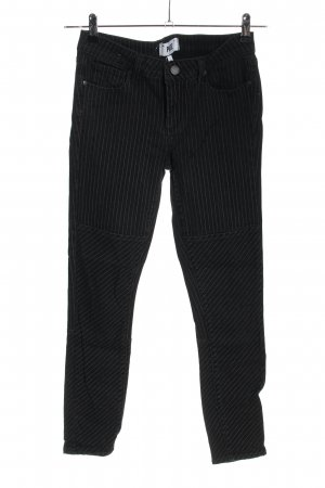 Paige Jeans skinny nero-bianco motivo a righe stile casual