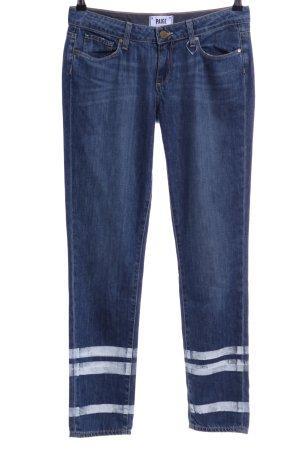 Paige Skinny Jeans blau Streifenmuster Casual-Look
