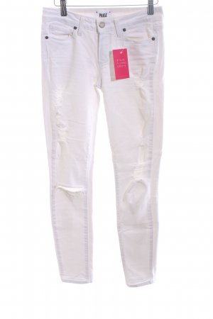 Paige Jeans skinny bianco stile casual