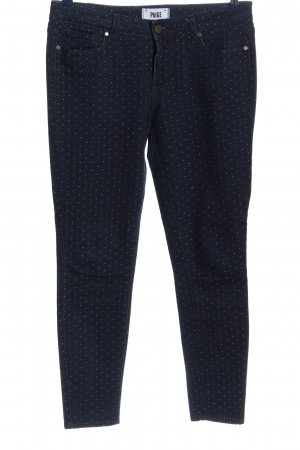 Paige Jeans slim fit bianco-blu stampa integrale stile casual