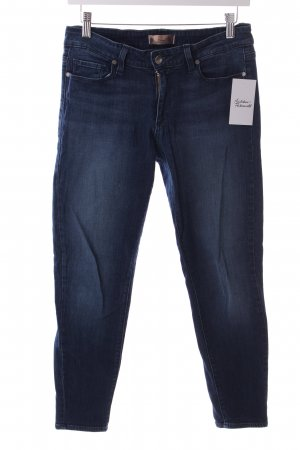 Paige Slim Jeans dunkelblau Washed-Optik