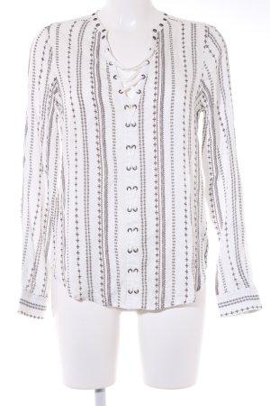 Paige Blusa a tunica bianco-nero modello misto
