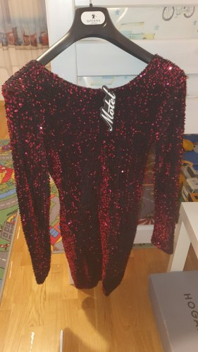 Motel Rocks Sequin Dress black-bordeaux