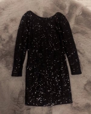 H&M Cekinowa sukienka czarny