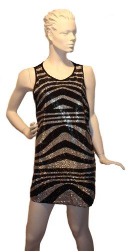 Pailetten-Kleid, schwarz/silber ❤️ Neu mit Etikett