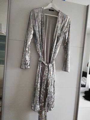 Sukienka płaszczowa srebrny