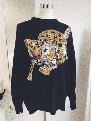 Pailetten Motiv Leopard