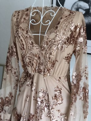 Sequin Dress rose-gold-coloured-gold-colored