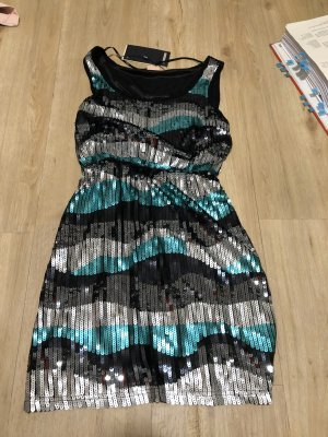 Only Sequin Dress black-silver-colored
