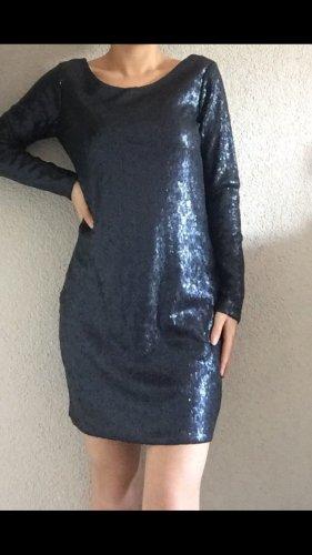Mango Jurk met pailletten donkerblauw