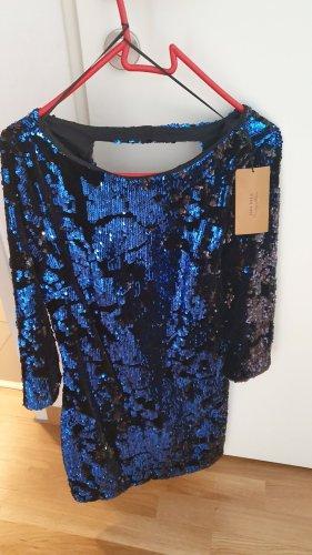 Zara Robe à paillettes bleu