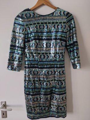 TFNC Cekinowa sukienka Wielokolorowy