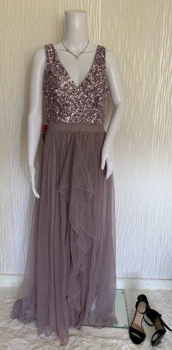 Pailettenkleid mit Tüll Ballkleid Abendkleid von SistaGlam Gr. 40
