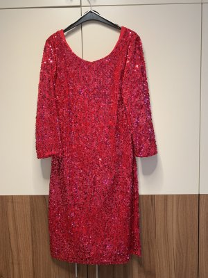 Vila Robe à paillettes rouge