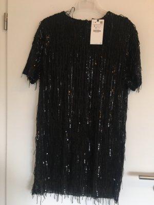 Zara Vestido de lentejuelas negro