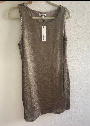 pailleten Kleid Beige
