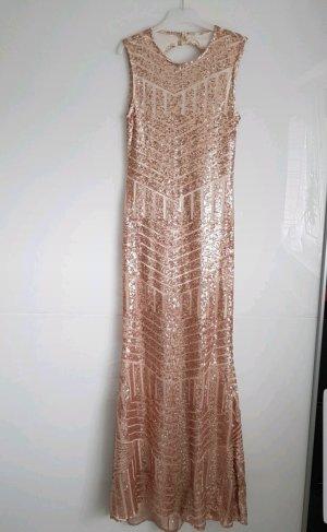 Cekinowa sukienka w kolorze różowego złota
