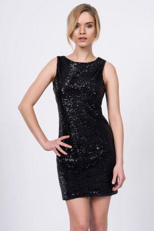 Vestido corsage negro tejido mezclado