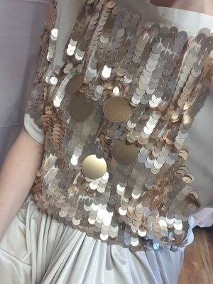 Pailletten Bluse gold matt