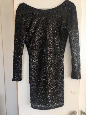 Pailletten Glitzer Kleid schwarz