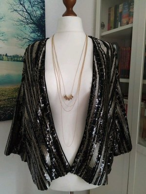 Promod Veste oversize doré-noir tissu mixte