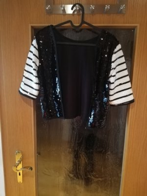 Zara Bolero white-black