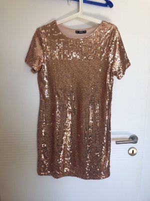 Boohoo Sequin Dress rose-gold-coloured