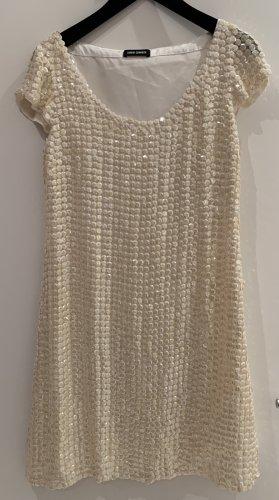 Barbara Schwarzer Robe trapèze blanc cassé soie