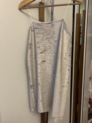 Mango Sequin Dress light grey