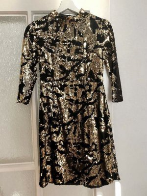 Zara Sequin Dress bronze-colored-black