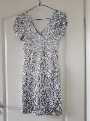 Sequin Dress silver-colored