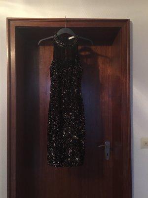 Butik Robe de cocktail noir-doré