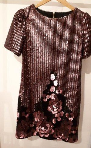 New Look Robe à paillettes noir-vieux rose