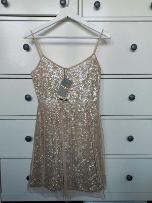 Pailletten Kleid Bershka Nude Gr.M
