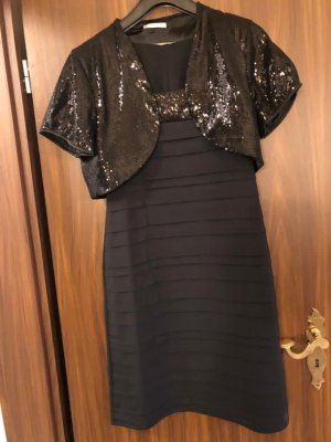 3 Suisses Sequin Dress black-bronze-colored