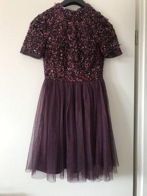 Pailletten Kleid elegant Maya lila