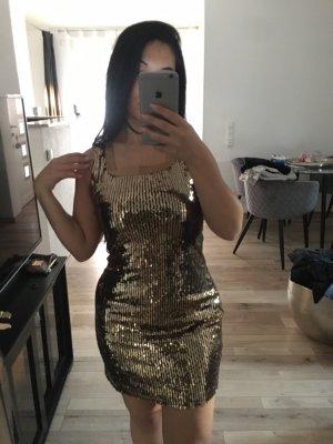 Pailletten Kleid Gold