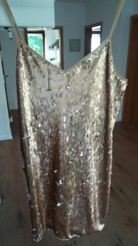 Pailletten-Kleid in gold/ silber, Gr. M