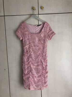 Pailletten Kleid in Rosa