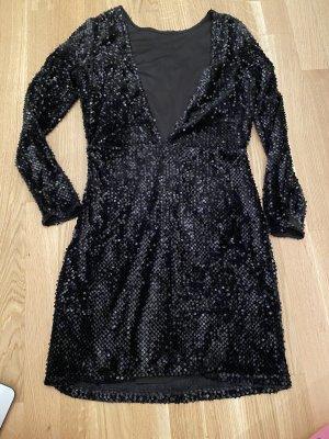 Pailletten Kleid in Schwarz