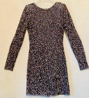Pailletten Kleid mit Schulterpolster