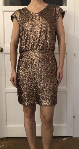 La Redoute Vestido de lentejuelas color bronce-color oro