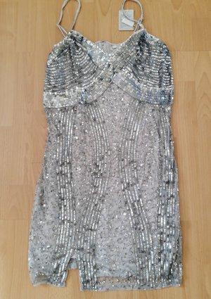 Carry Allen by Ella Singh Abito con paillettes grigio chiaro-grigio