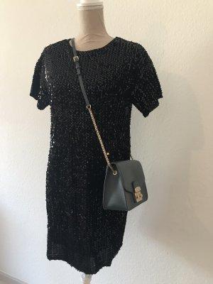 24Colours Vestido de lentejuelas negro