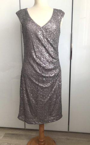 Vera Mont Sequin Dress silver-colored polyamide