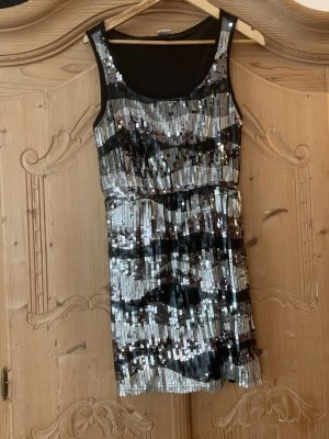 Only Sequin Dress silver-colored-black