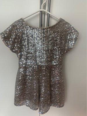 Zara Robe à paillettes gris clair