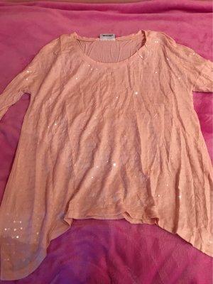 Gina Lang shirt roze-lichtroze