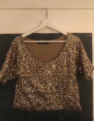 Lookbookstore Cropped Shirt gold-colored
