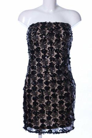 Cekinowa sukienka czarny-nude